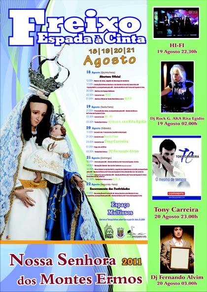Cartaz Festas Nossa Senhora dos Montes Ermos Freixo de Espada à Cinta