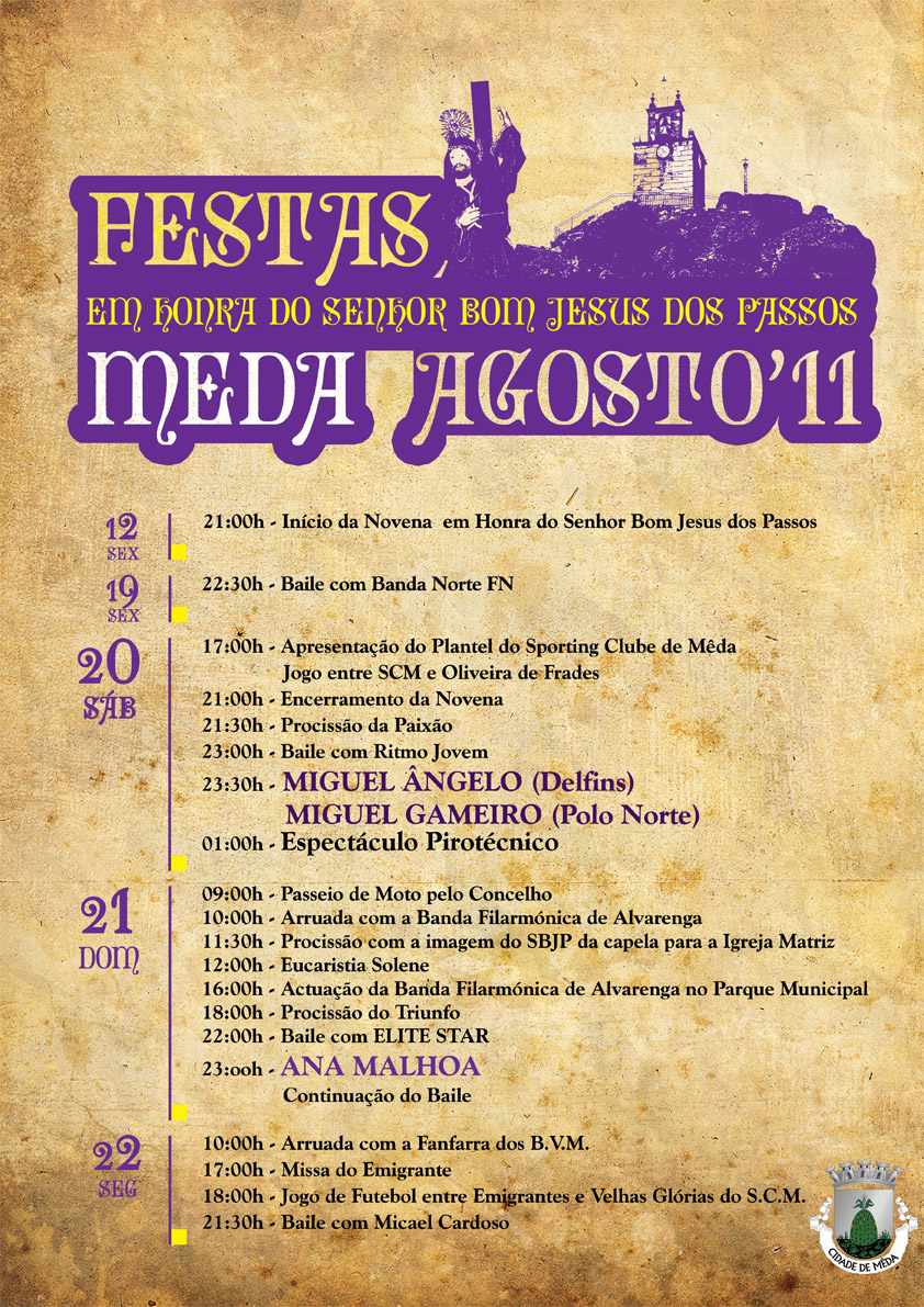 Cartaz das Festas da Cidade da Meda 2011